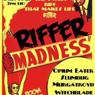 Riffer Madness gig poster